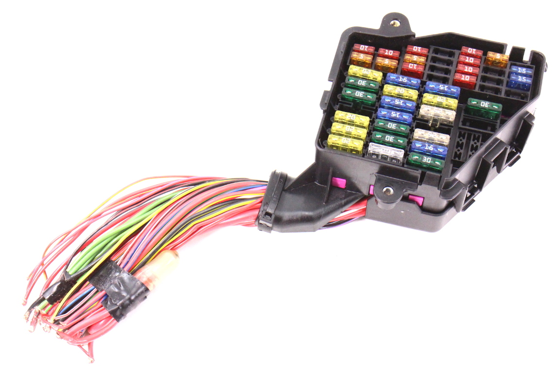 hight resolution of dash fuse box panel wiring harness pigtail 02 05 audi a4 b6 genuine