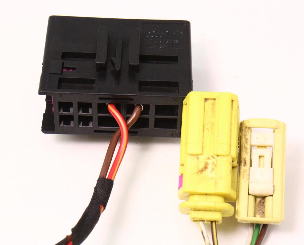 medium resolution of  lh seat wiring harness plugs pigtails airbag 06 10 vw passat b6 genuine