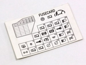 Dash Fuse Box Diagram Card 9810 VW Beetle  Genuine  1C0 010 232 K   eBay