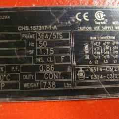 Weg Fire Pump Motor Wiring Diagram Household Diagrams Motors Simplexstyle Com 3ph 75hp 380v 2945rpm 107amps Chs157317 1 A