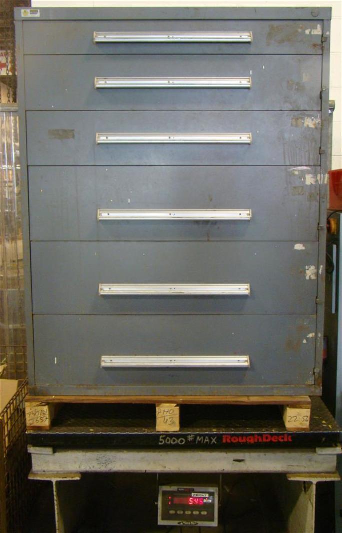 Stanley Vidmar 6 Drawer Tool Storage Cabinet Grey 45x271