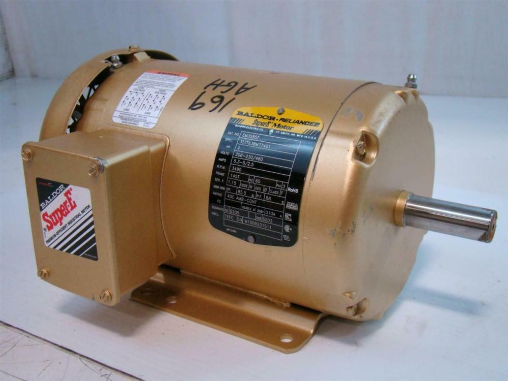 medium resolution of baldor reliance super e motor 2hp 208 230 460v 5 3 5 2 5amps 3490rpm for manufacturing an on baldor reliance industrial motor diagram