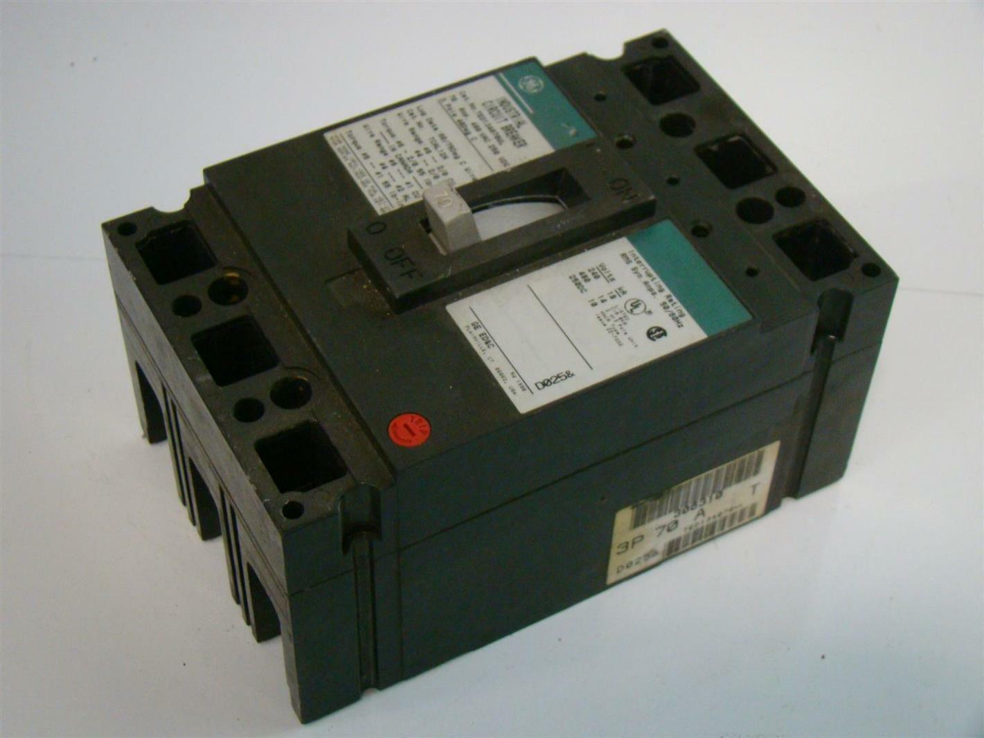hight resolution of general electric circuit breaker 70a 3pole 480vac ted134070wl