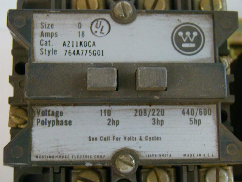 medium resolution of westinghouse size 0 reversing contactor a211k0ca