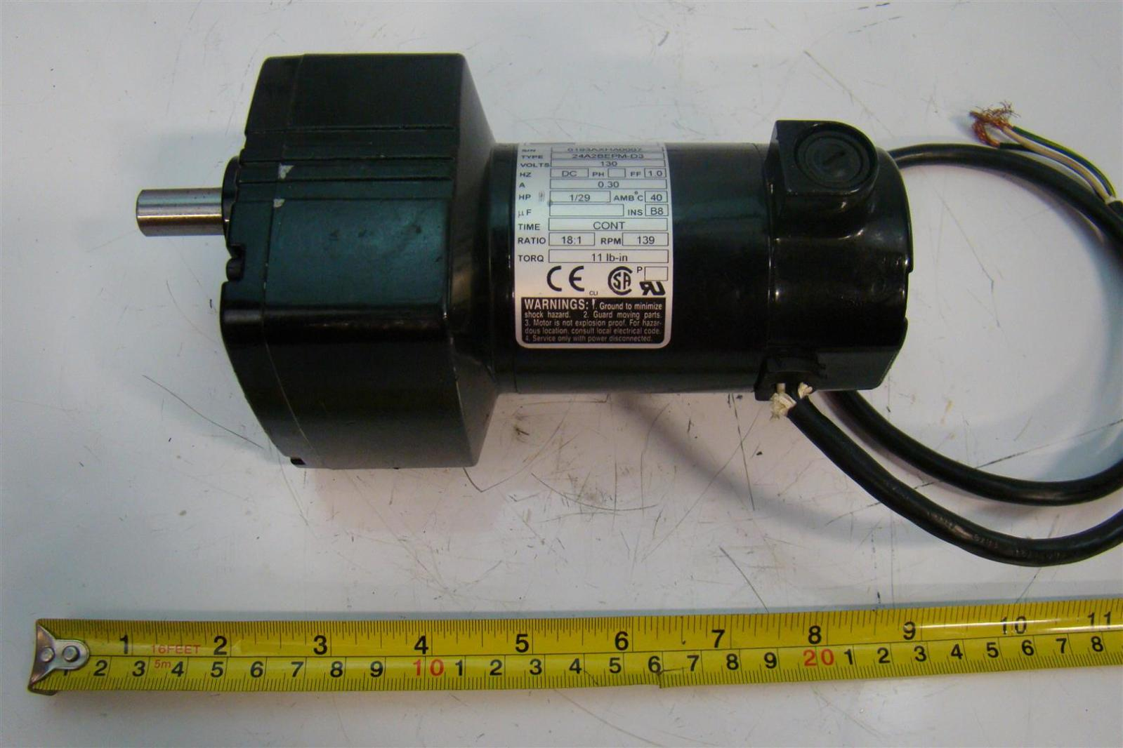 hight resolution of bodine electric co 24a2bepm d3 dc 1 29 hp gearmotor 24a2bepm d3 ebay also with electric motor wiring diagrams explained as well as bodine electric co