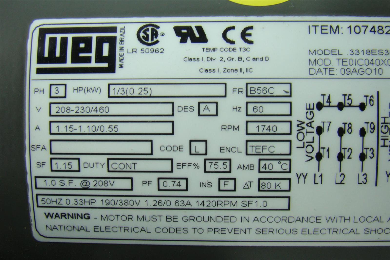 weg w22 wiring diagram caravan 13 pin class 1 div 2 motor impremedia