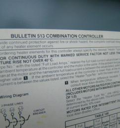 allen bradley bulletin 513 combination starter size 0 w circuit breaker 513 [ 1599 x 1066 Pixel ]