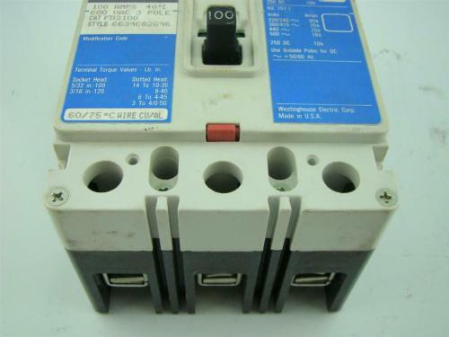 small resolution of  cutler hammer circuit breaker fd 25k 3 pole 100 amps