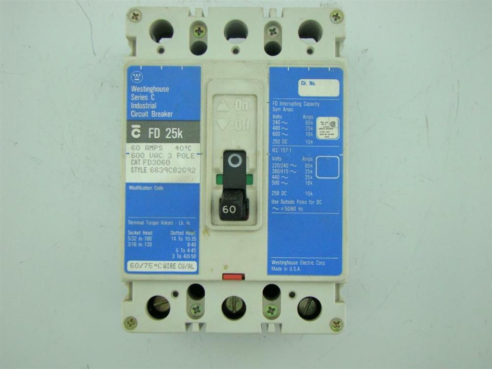 medium resolution of  cutler hammer circuit breaker fd 25k 3 pole 100 amps