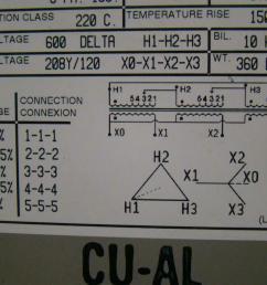 rex manufacturing 3ph iso transformer 45kva 600dx208y 120 bc45jm ebay 480 volt transformer wiring diagram rex [ 1421 x 1066 Pixel ]
