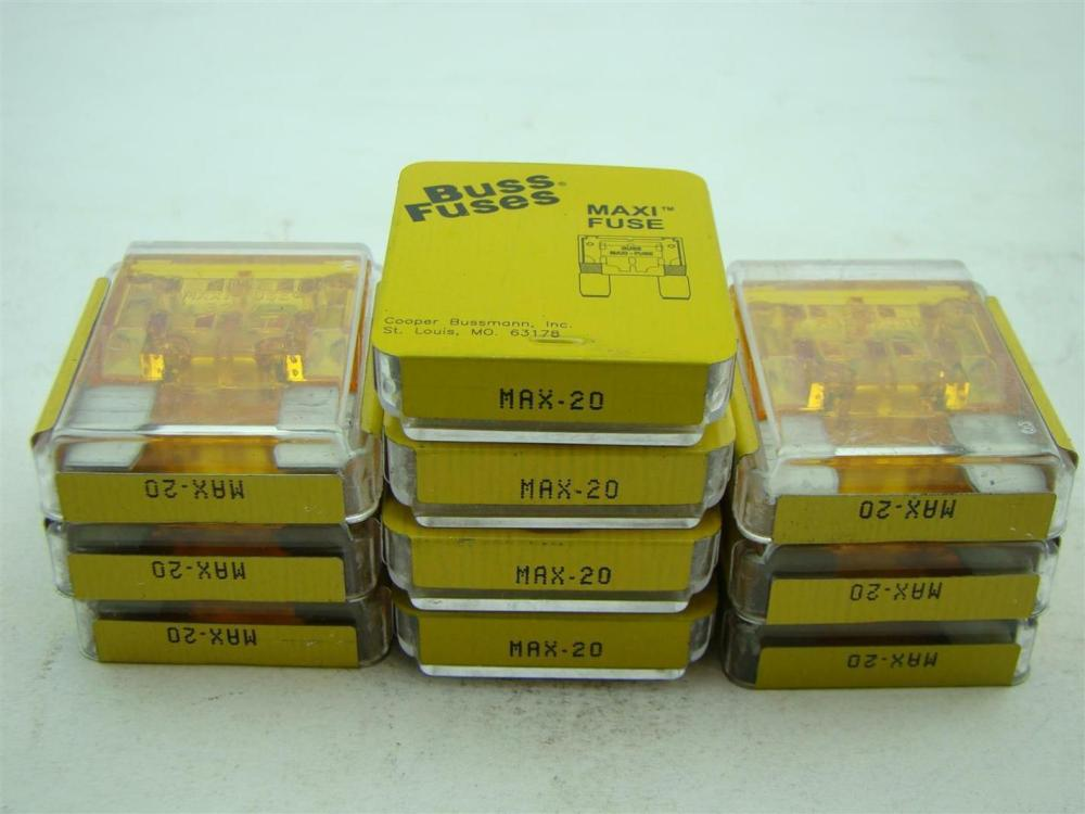 medium resolution of  10 pcs buss fuses maxi fuse max 20