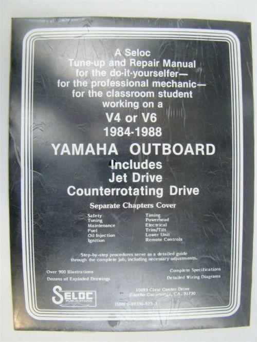 small resolution of  seloc yamaha outboard v 4 and v 6 repair manual 1984 1988
