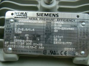 Siemens 1 HP 1755 RPM Electric Motor SD100 | eBay