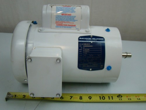 small resolution of  baldor 1 3 hp 1425 rpm electric motor vwdl3510 ebay on baldor motors wiring diagram