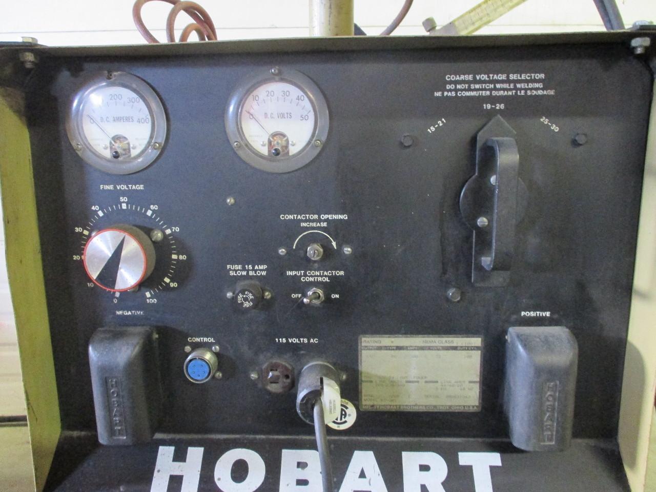 hight resolution of  hobart rc 301 welder 300 amp with hobart 2210 wire feeder