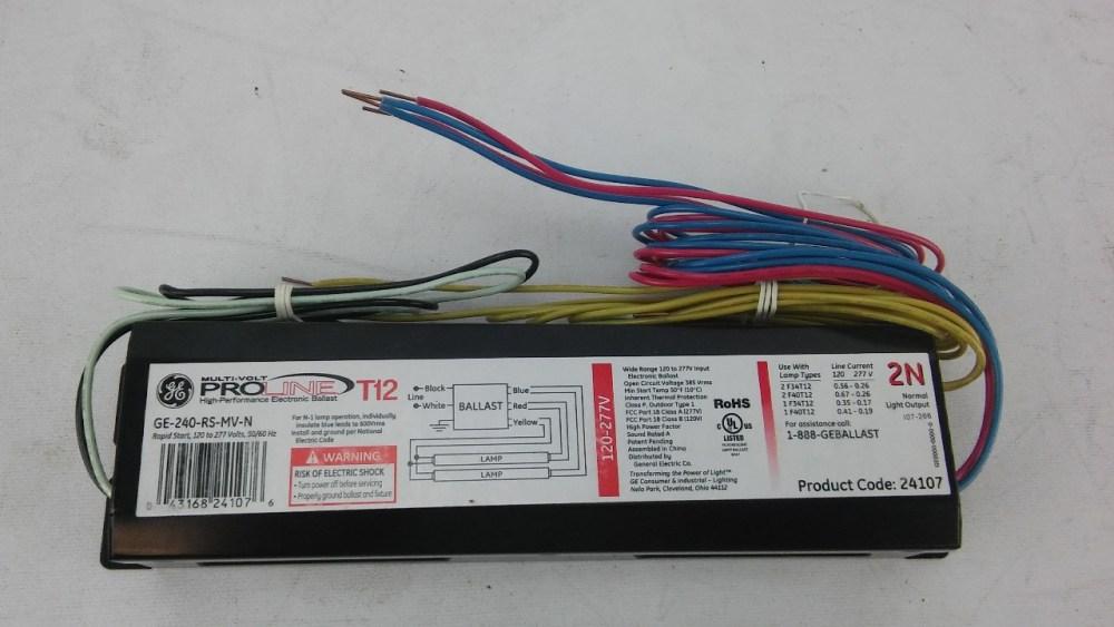 medium resolution of ge 240 rs mv n electronic ballast t12 lamps 120 277v lotastock rh lotastock com t12 ballast wiring diagram advance ballast t12