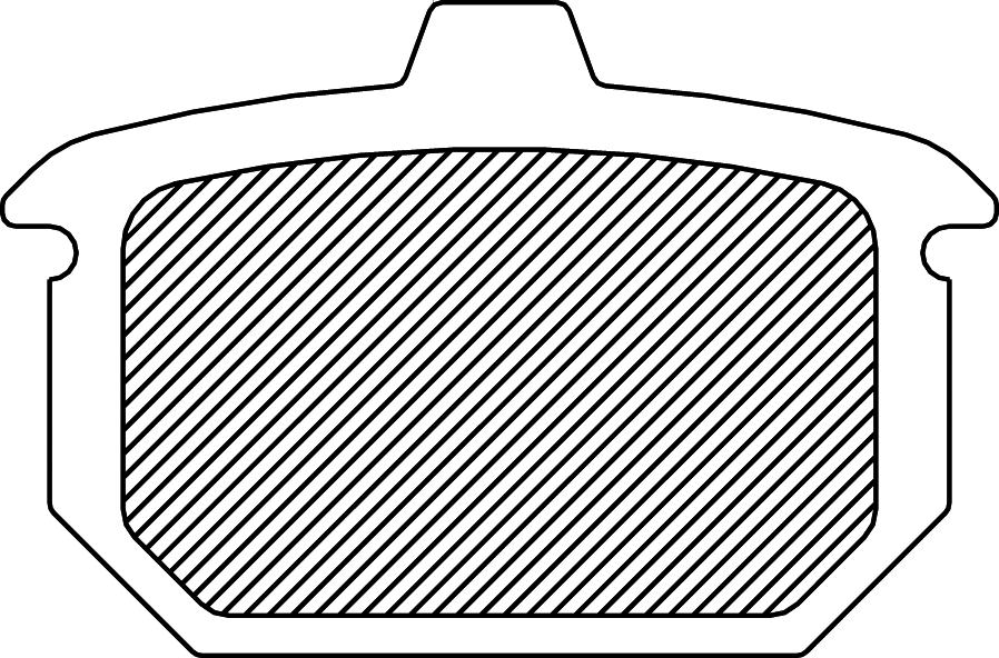 Drag Specialties Sintered Metal Rear brake Pads 84-87