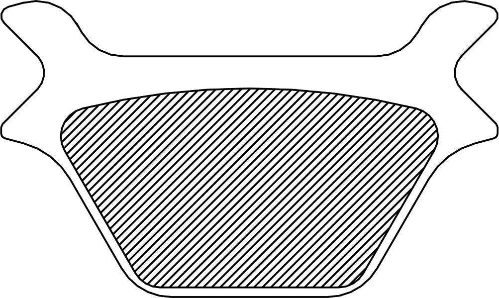 Drag Specialties Sintered Metal Rear Brake Pads 87-99