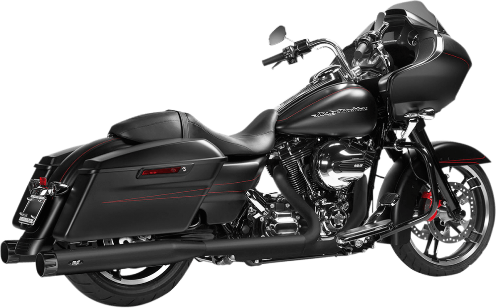 medium resolution of magnaflow 4 knock out black slip on exhaust muffler 95 16 harley touring fltr jt s cycles