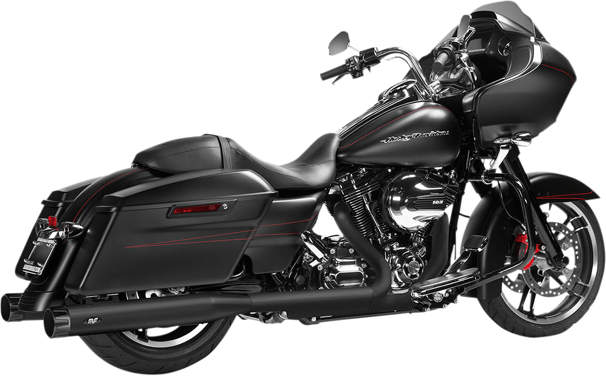 hight resolution of magnaflow 4 knock out black slip on exhaust muffler 95 16 harley touring fltr jt s cycles