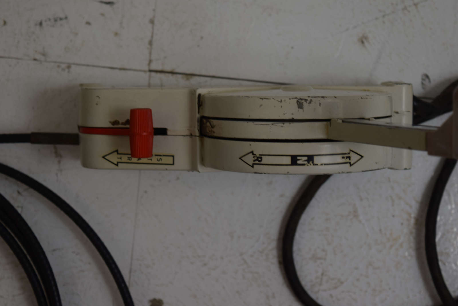 hight resolution of  1960 s omc stringer shift elect side mount control box w 16 ft cables 380505