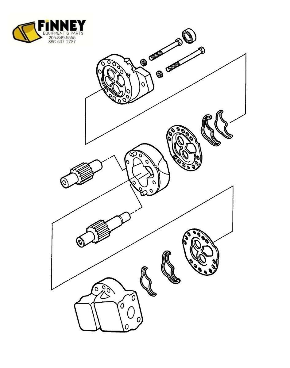 medium resolution of  ford backhoe hydraulic pump new 445 445a 450 540 540a 545 555 655 655a e7nn600bb