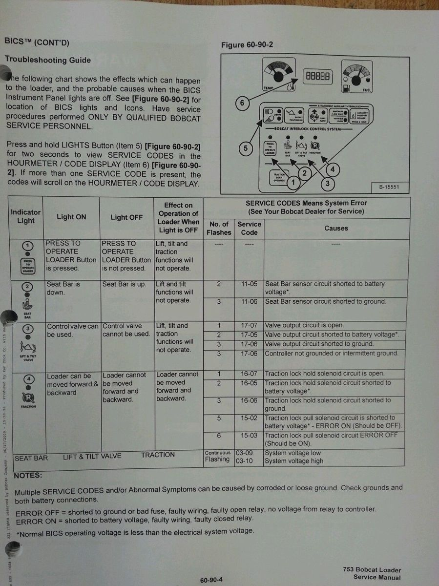 hight resolution of  bobcat skid steer 753g 753 service manual book 6900976