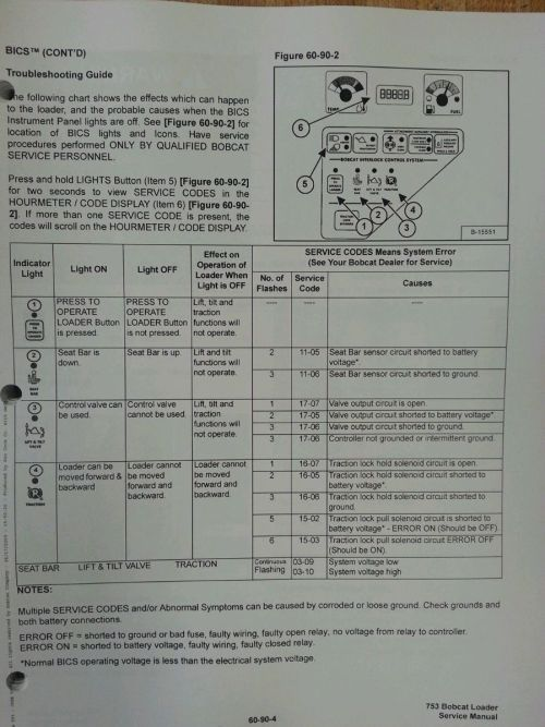 small resolution of  bobcat skid steer 753g 753 service manual book 6900976