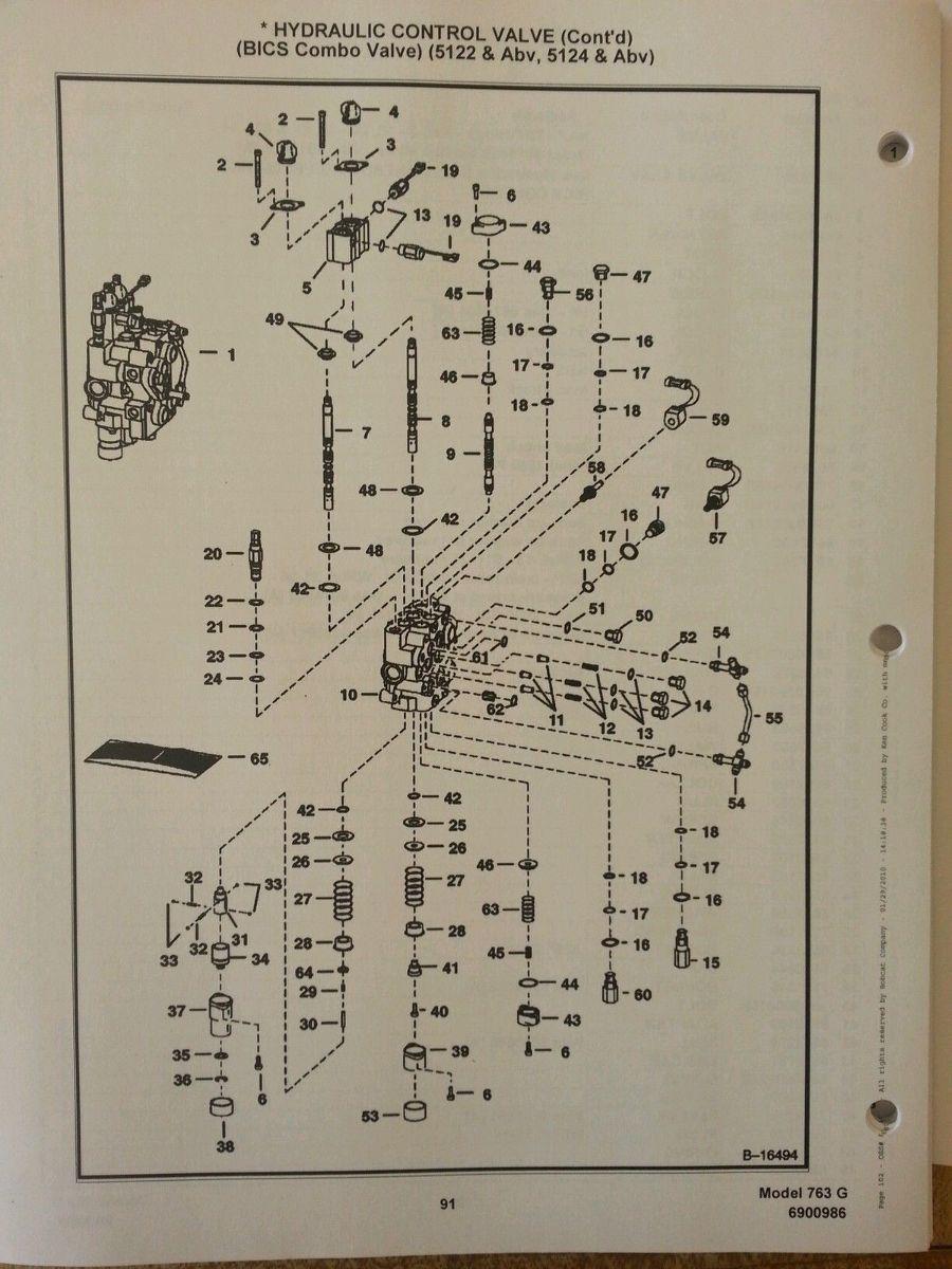 medium resolution of  bobcat 763 763g skid steer parts manual book 6900986