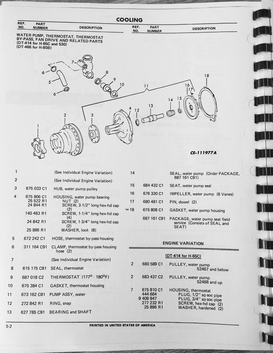 medium resolution of international td15c crawler dozer tractor engine parts manual book rh finneyparts us international dt466 fuel diagram international dt466 wiring diagram