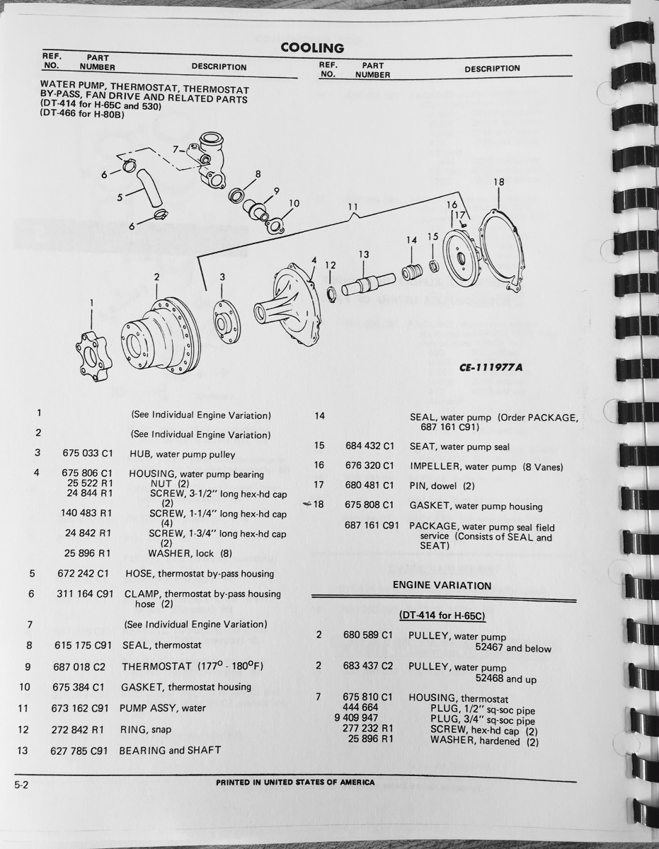 hight resolution of international td15c crawler dozer tractor engine parts manual book rh finneyparts us international dt466 fuel diagram international dt466 wiring diagram