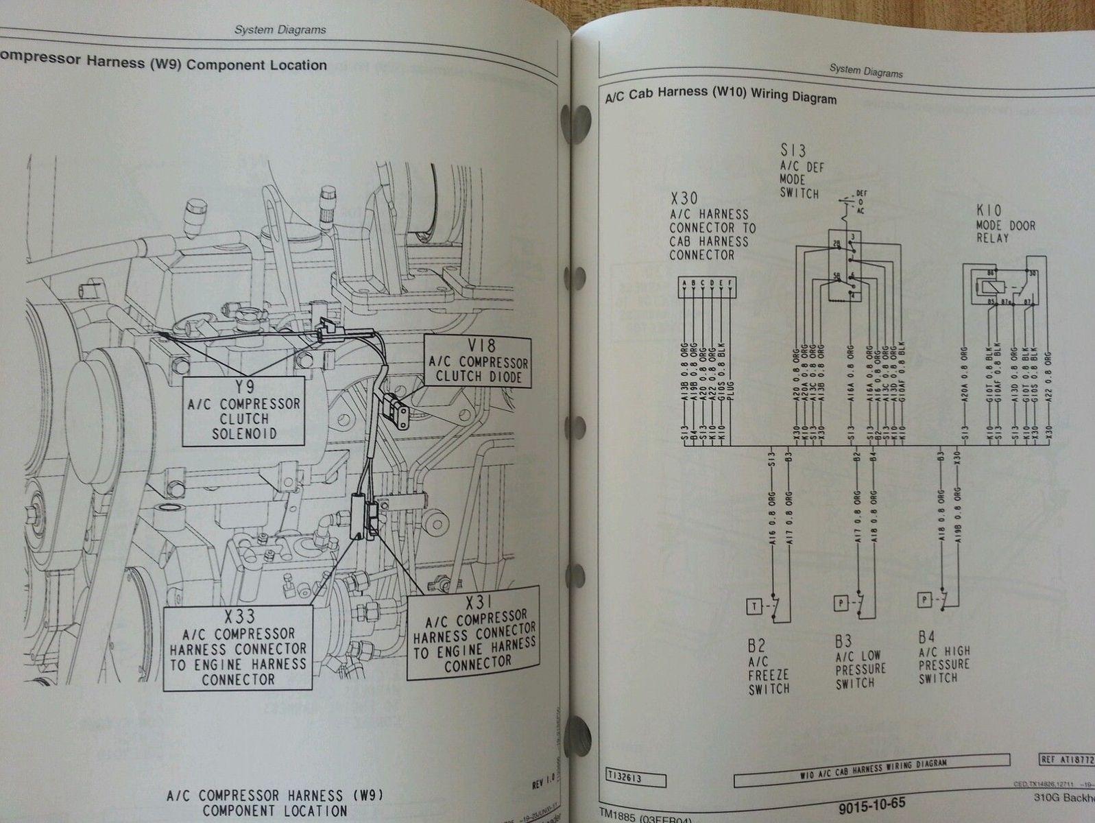 Deere Backhoe Loader Parts Diagram On John Deere 310sg Backhoe Wiring
