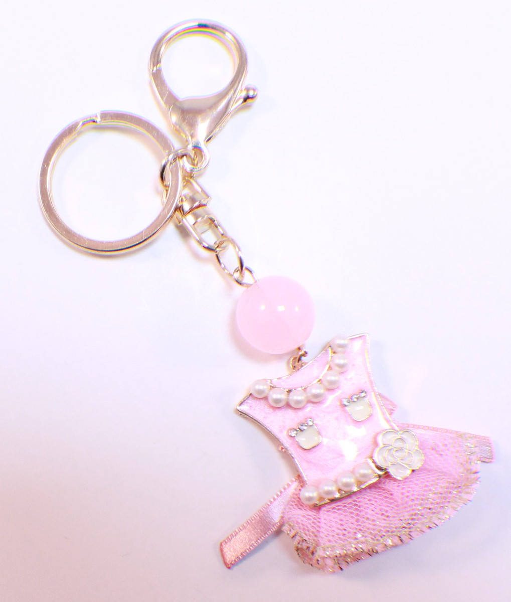 rhinestone bling key chain