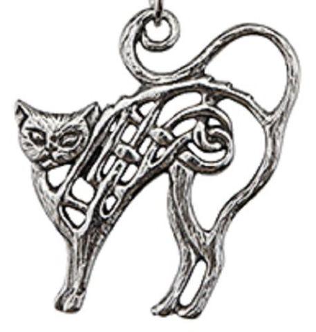 A.E. Williams Fine Brittish Pewter Cat Kitten Celtic