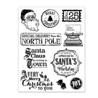 Forever in Time Clear Cling Rubber Stamp Vintage Holiday
