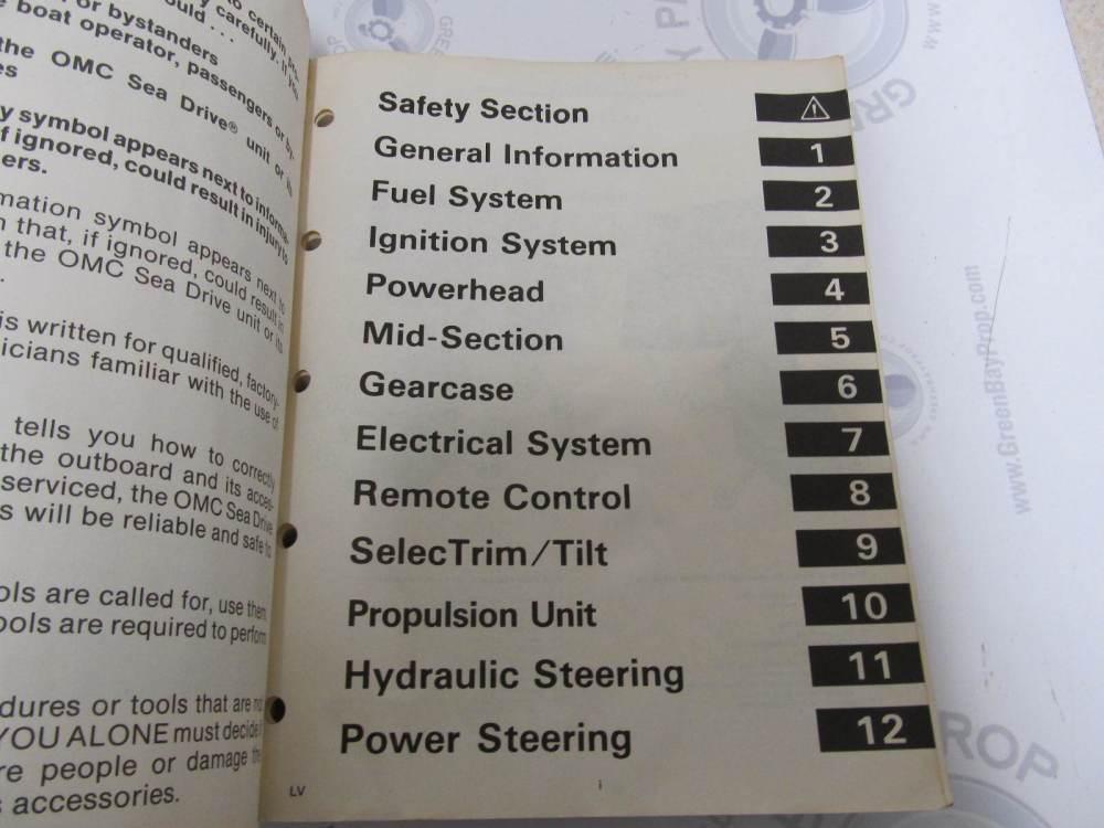 medium resolution of  507624 1987 omc sea drive marine engine service manual 1 8 2 7 3 6l