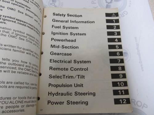 small resolution of  507624 1987 omc sea drive marine engine service manual 1 8 2 7 3 6l