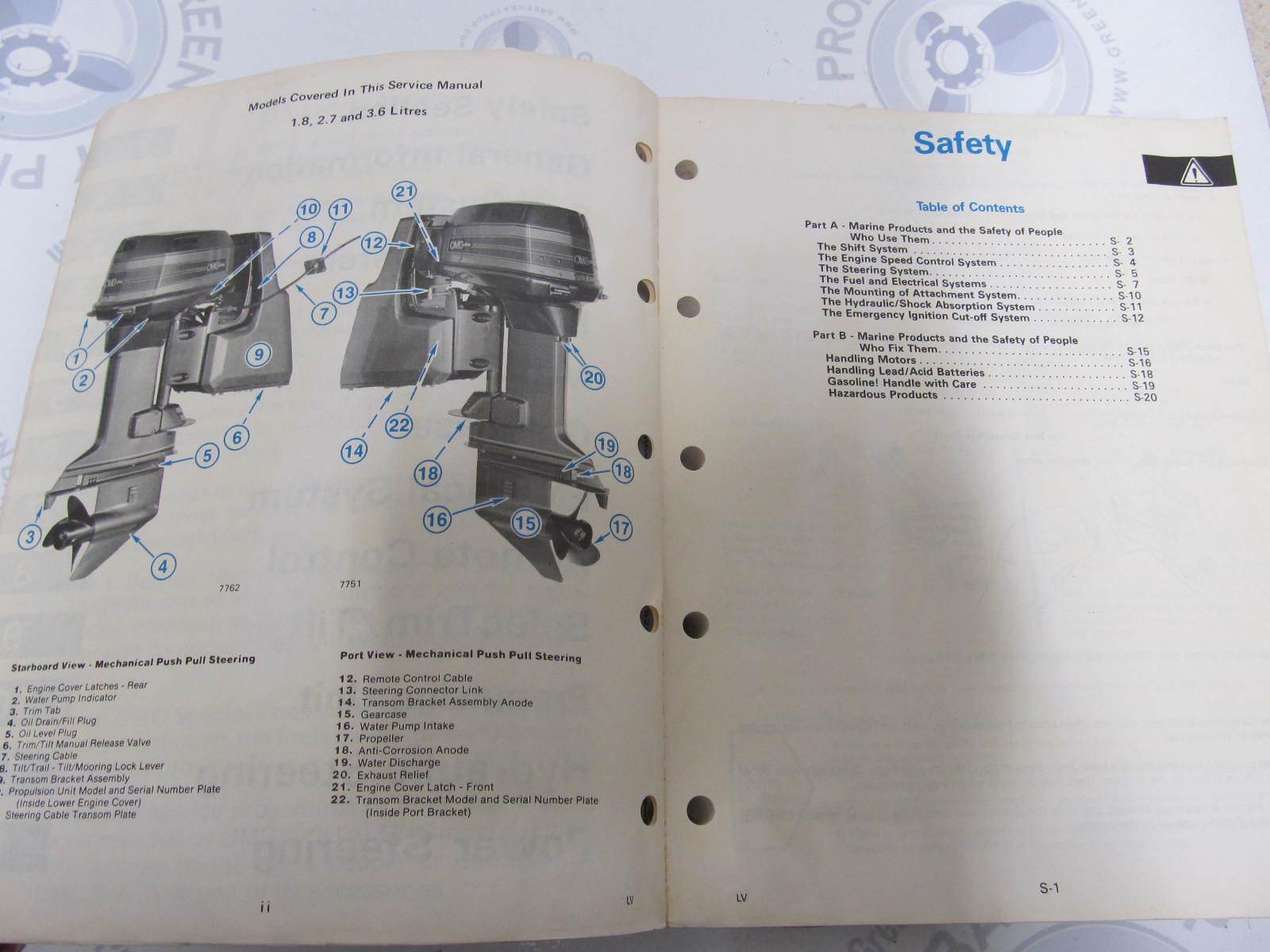 hight resolution of  507624 1987 omc sea drive marine engine service manual 1 8 2 7 3 6l