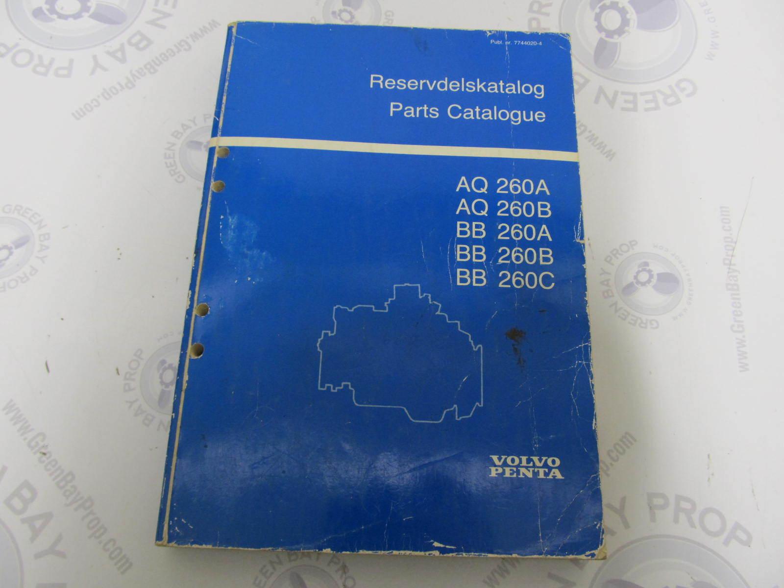 hight resolution of 7744020 4 volvo penta stern drive parts catalog aq260a b bb260a b b green bay propeller marine llc