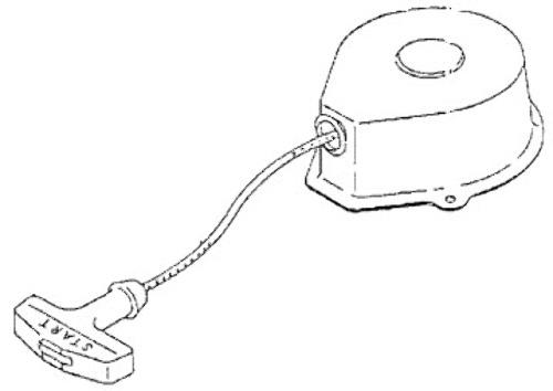 823038 Recoil Starter Assembly Mercury Mariner 2-3.3 HP