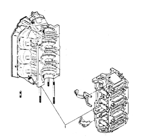 858-6284A2 Fits Mercury V-175 6Cyl. Outboard Cylinder