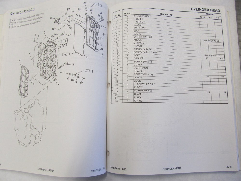 medium resolution of  1995 mercury mariner outboard service manual 45 50 hp 4 stroke