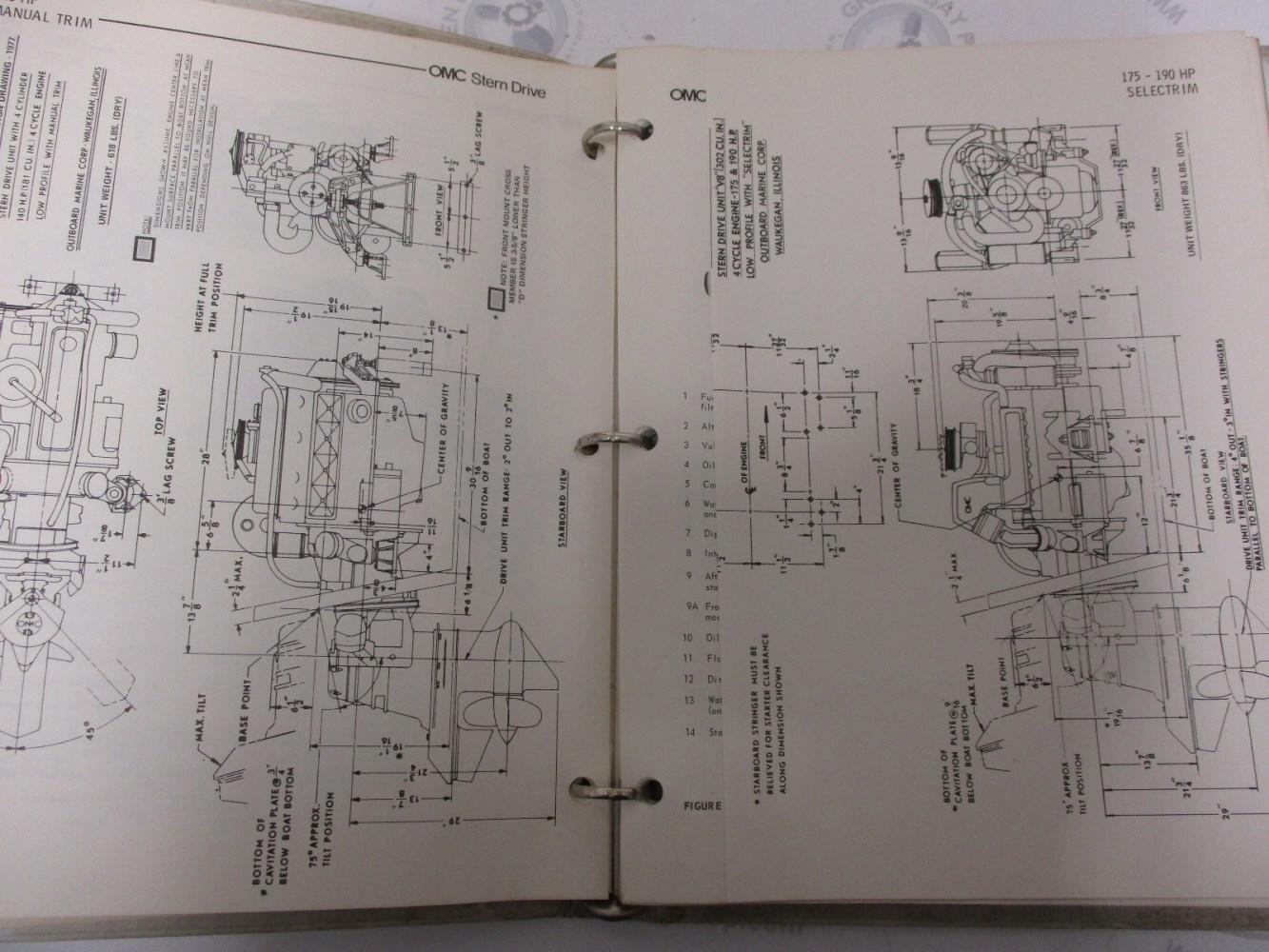 medium resolution of  981046 omc stern drive 1976 service installation manual
