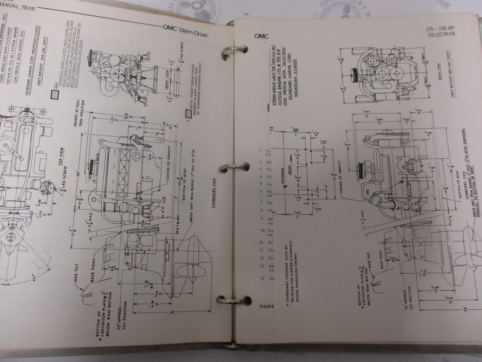 hight resolution of  981046 omc stern drive 1976 service installation manual