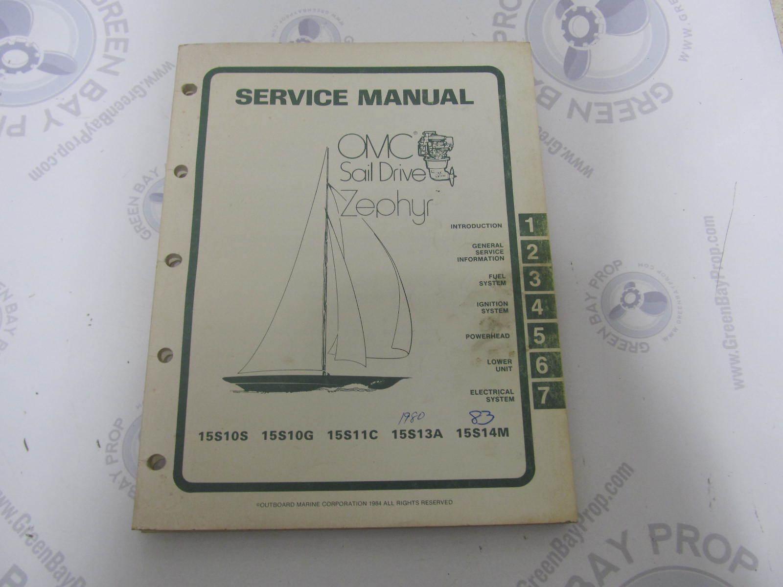 hight resolution of 983669 omc sail drive zephyr serive manual 15 hp 1977 1983 green bay propeller marine llc