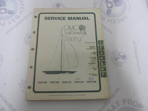 small resolution of 983669 omc sail drive zephyr serive manual 15 hp 1977 1983 green bay propeller marine llc