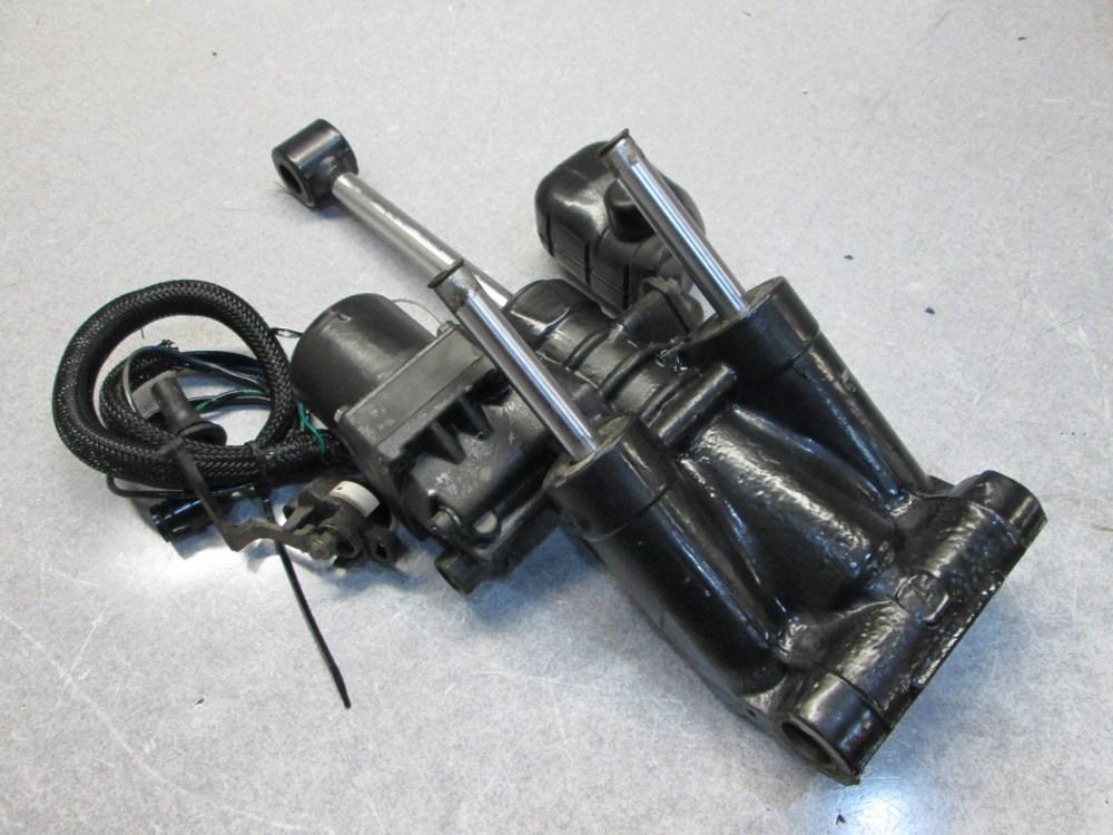 medium resolution of 0434396 5005430 evinrude johnson grey trim tilt motor 88 140 hp