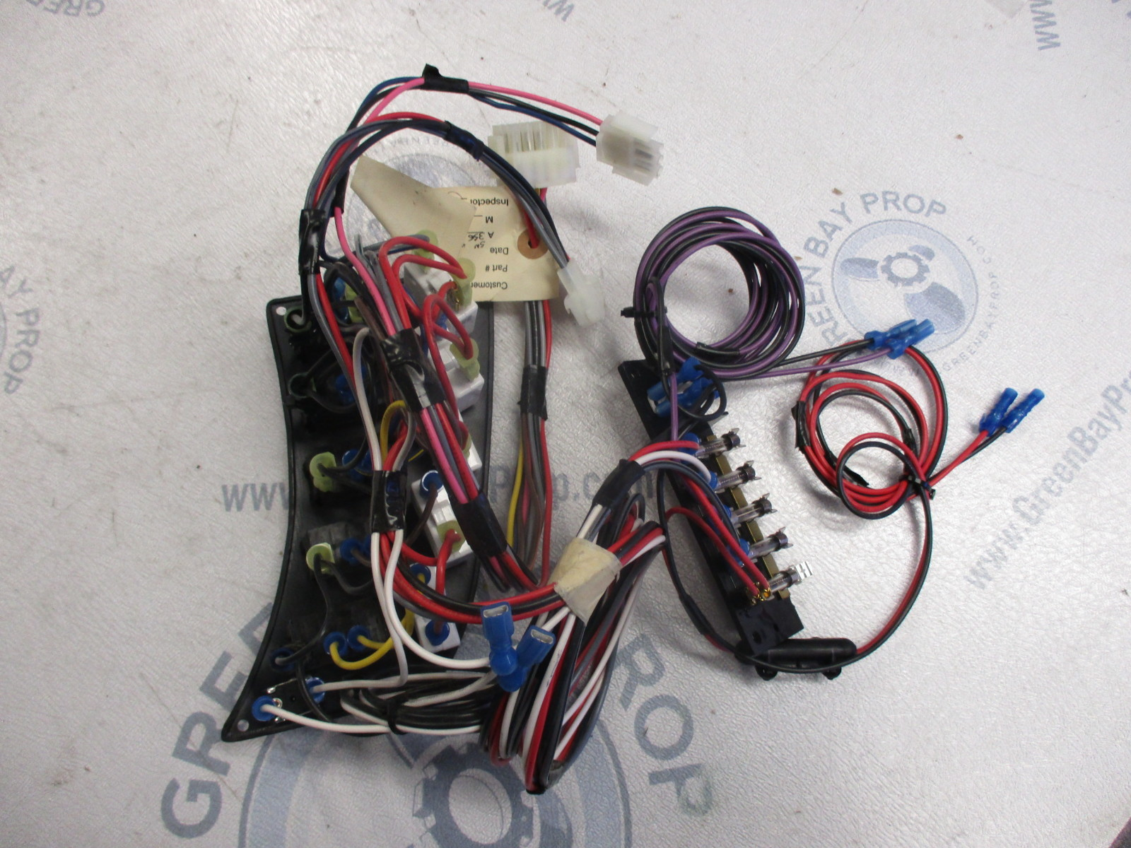 hight resolution of  new nos marine boat switch panel and fuse block wood grain finish