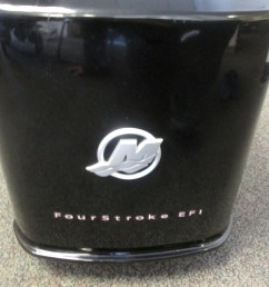 fits mercury outboard upper top engine motor cowl cover 90 hp 4 stoke e f i  [ 1600 x 1200 Pixel ]