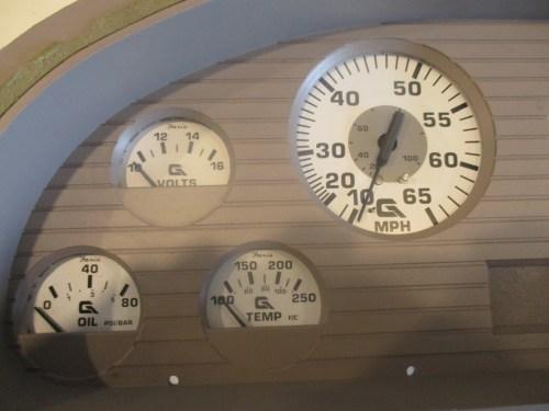 small resolution of  marine boat dash board gauge panel cluster set faria white